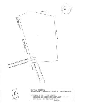 Croquis de la futura ubicación del centro de residuos en la Reserva Ecológica (Fuente: Expediente  1478 GCBA 15/09/2014)