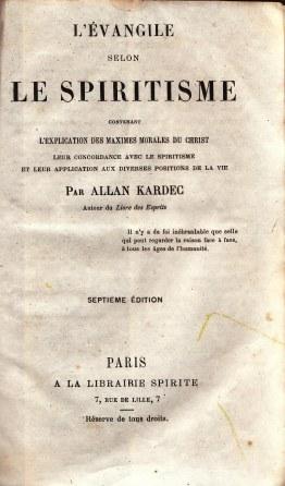 Portada del libro de Allan Kardec. Foto: Commons.wikimedia.org