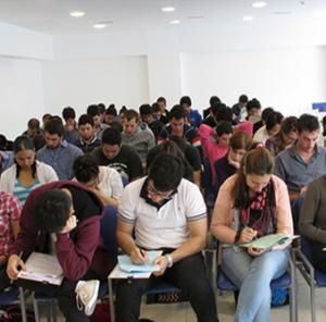 Futuros residentes rindiendo el examen de ingreso. Fuente: Ministerio de Salud de la Nación