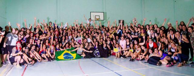 Las chicas de los seleccionados participantes del Latinoamericano en San Pablo.