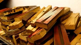 Tipos móviles de madera: letras y números de alto relieve tamaño titular 10cm